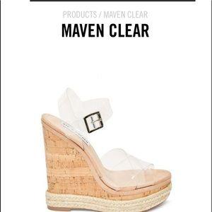 Steve Madden Maven Clear sky High wedge 7